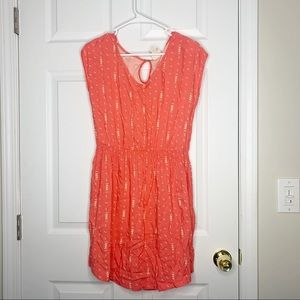 Mossimo patterned coral sundress size large